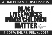 SCPA 1st Thurs: Black Lives, Voices, Minds, Children Matter