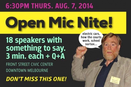 Open Mic Nite Aug. 7