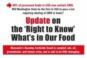 Update: Labeling Genetically Engineered Foods