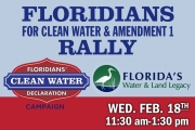 Clean Water and Amendment 1 Rally Tally