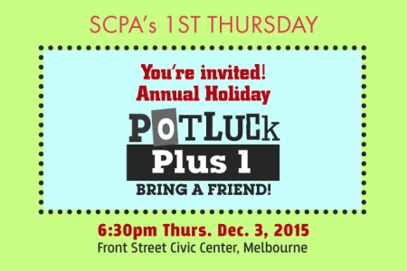 SCPA 1st Thurs: Holiday Potluck Plus 1