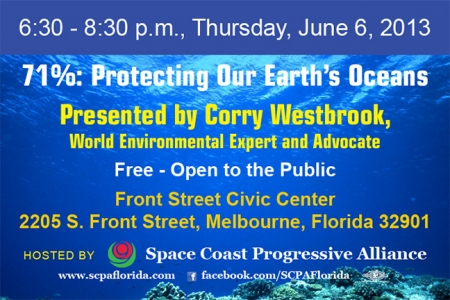 "SCPA 1st Thursday - ""71% - Protecting the Earth's Oceans"""